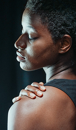 Man with shoulder pain considering Orthobiologic injections